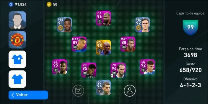 manager pes 2020 mobile