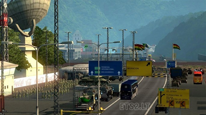 Mapa Brasil, Bolívia e Peru mod Euro Truck Simulator