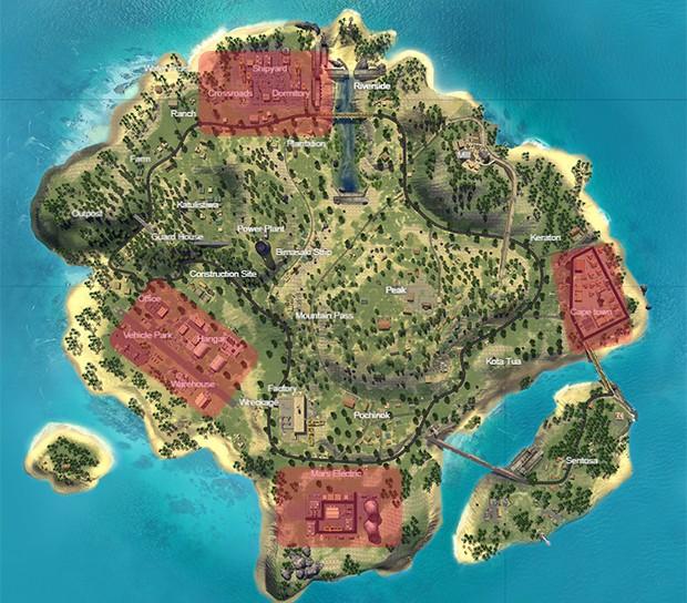Mapa Corrida Mortal Free Fire