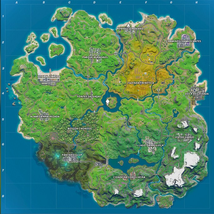 Mapa Fortnite capitulo 2