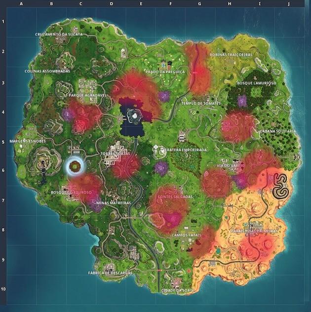 Mapa Fortnite Localização Lhamas