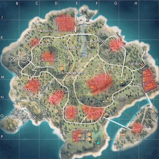 Mapa Free Fire Maio 2019