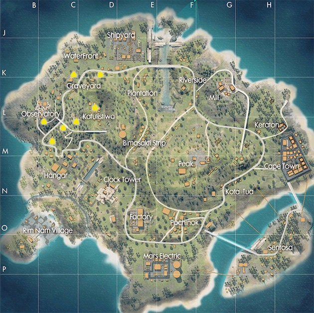 mapa lancadores bermuda free fire