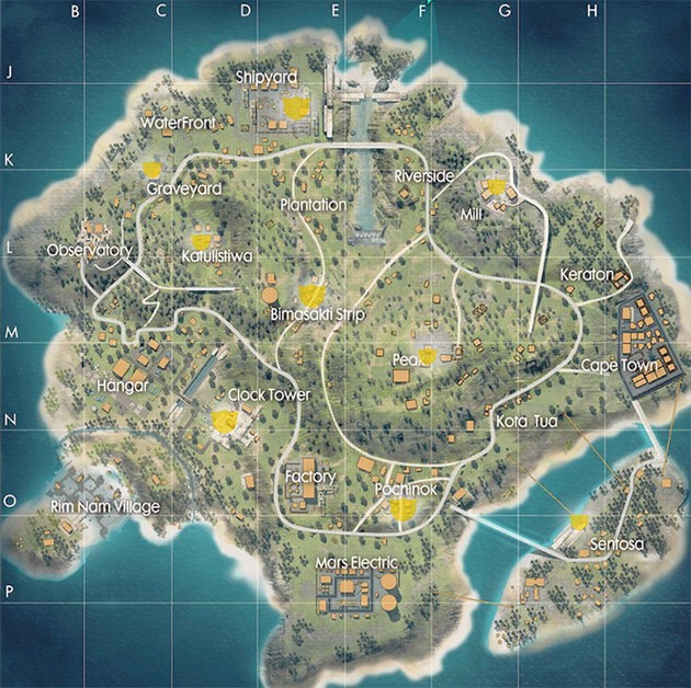 Mapa Trono Bermuda Free Fire