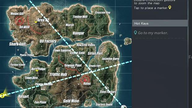 Mapa Fiorde