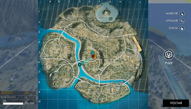 Marcar Posicao mapa Free Fire