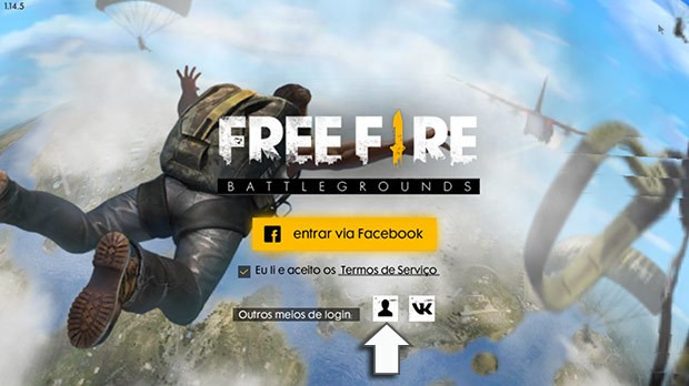 Menu Inicial Free Fire Battlegrounds