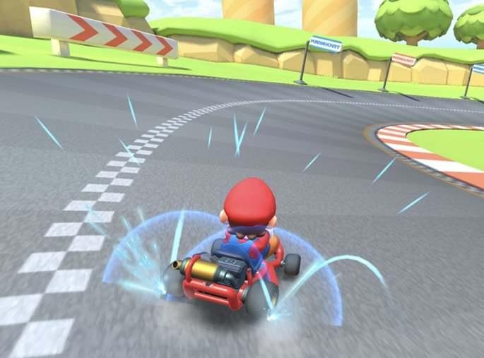 Miniturbos en Mario Kart Tour