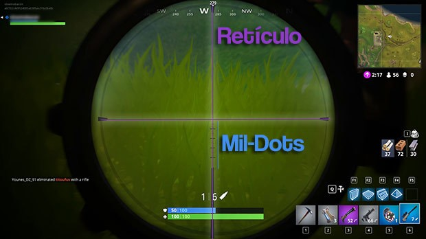 Mira Sniper Fornite Leitura