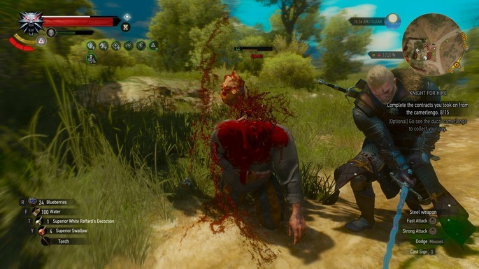 Mod sangue the witcher 3