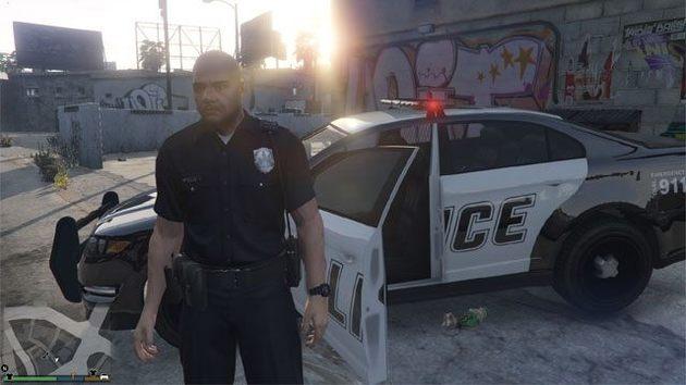Modo de jogo com a polícia GTA V