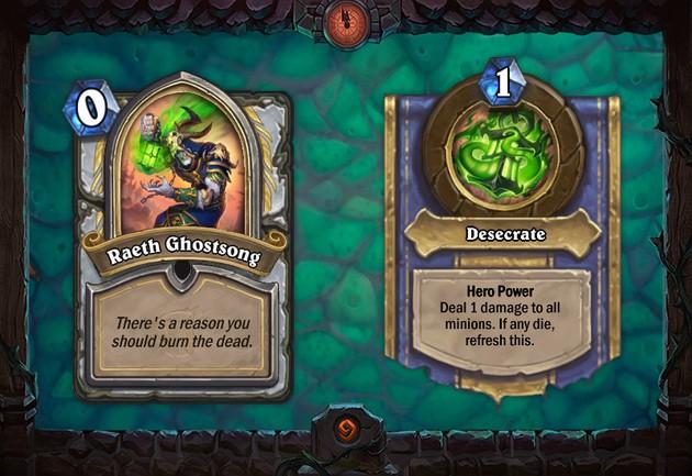 Raeth Ghostsong - Caça aos Monstros - Hearthstone