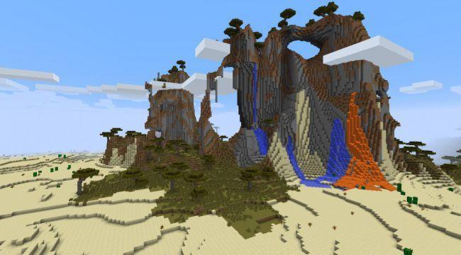 Montanha de lava minecraft