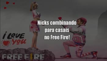 127 nicks de casal combinando para usar no Free Fire