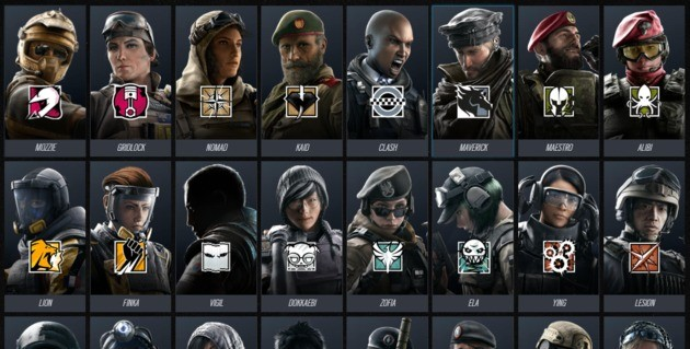 Operadores - Rainbow Six