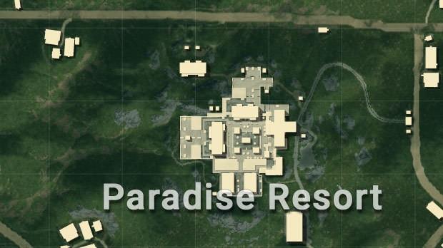 Mapa Sanhok paradise resort