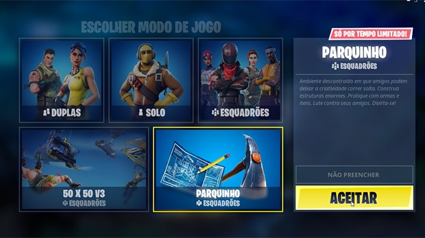 Parquinho Fortnite Lobby