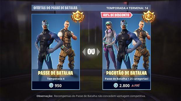 Compre o Passe de Batalha