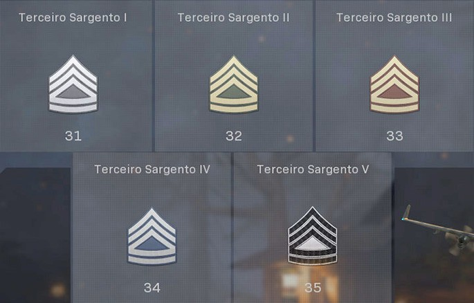 Patente de Terceiro Sargento - CoD Warzone