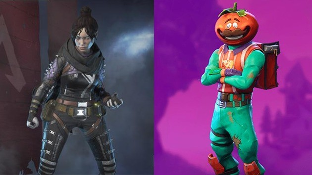 Personagens - Apex Legends vs Fortnite