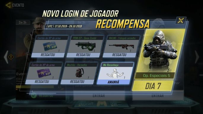Login Diário - Call of Duty Mobile - Créditos
