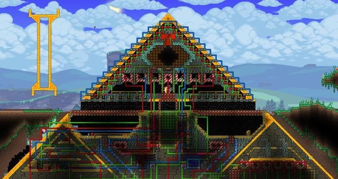 Pirâmide puzzle terraria mapa