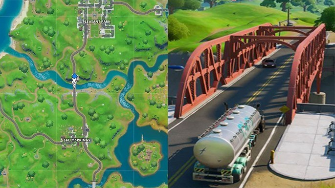 Ponte de Aço Vermelha - Fortnite
