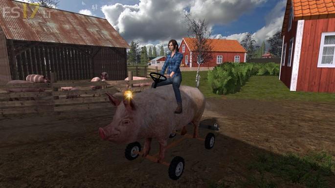 Porco montaria mod Farm Simulator 2017