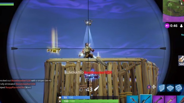 Praticando Sniper Fortnite
