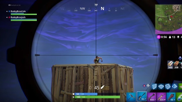Prever Movimento Sniper Fortnite