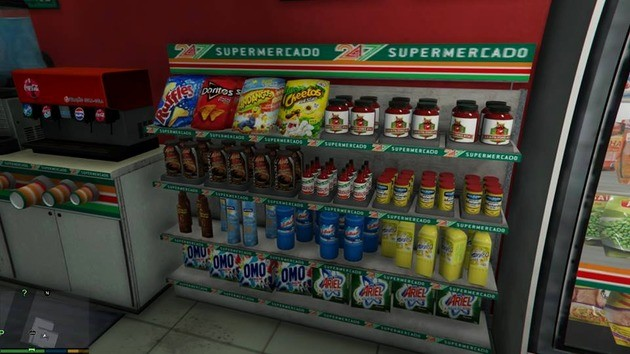 MOD GTA V produtos brasileiro