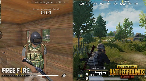 Android ou iOS pubg Free Fire