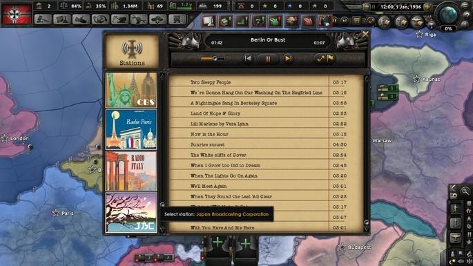 Rádio de época mod hoi4