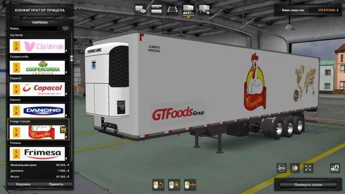 Reboques empresas brasileiras mod euro truck simulator 2