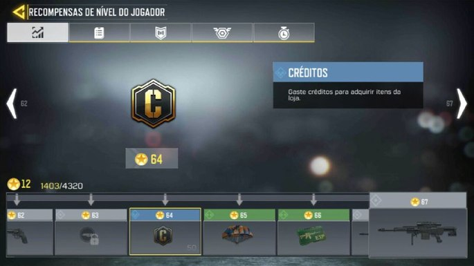 Recompensas - Call of Duty Mobile - Créditos