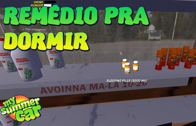 Remédio para dormir mod my summer car
