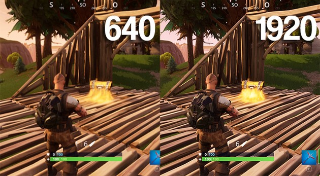 Fortnite 3D Resolution