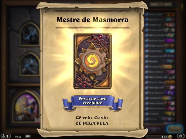 Recompensa da Masmorra - Hearthstone
