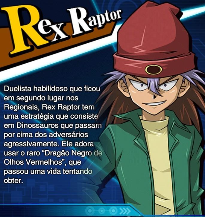 rex raptor habilidades duel links