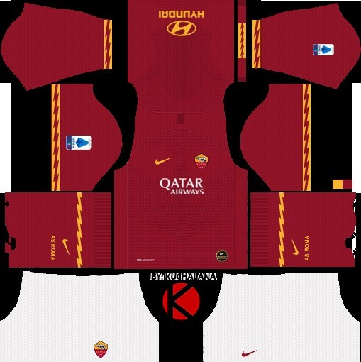 Roma kit Dream League Soccer