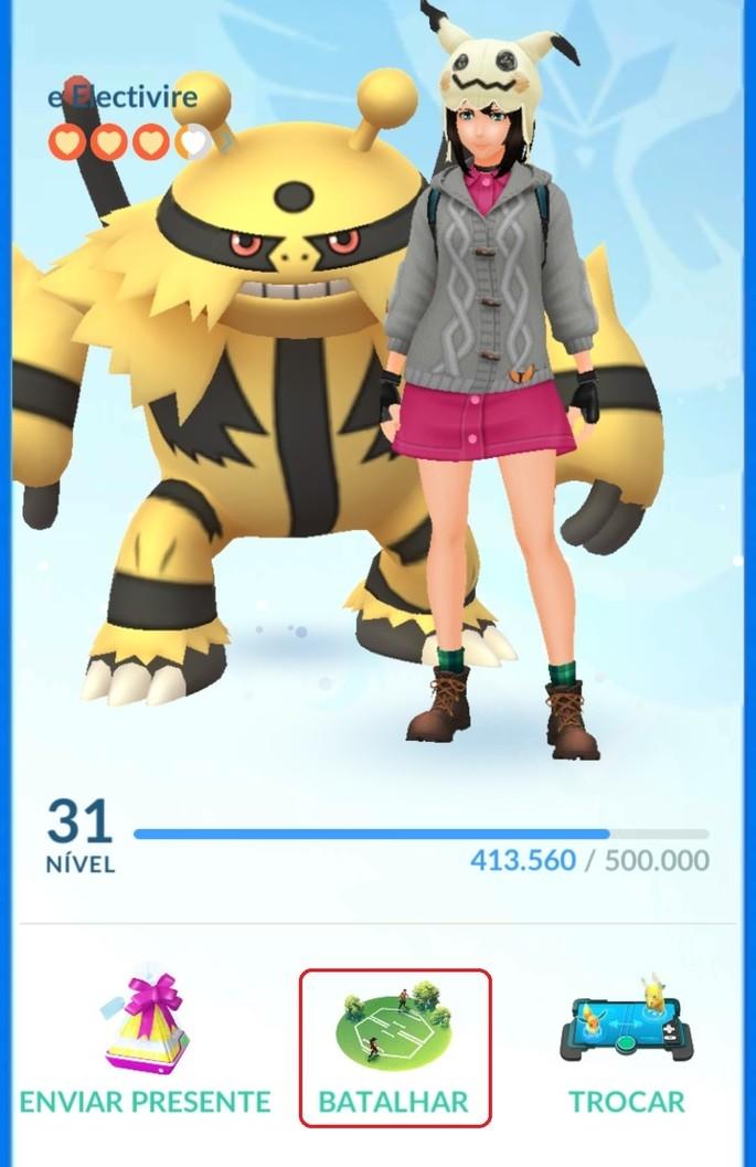 Batalha remota - Pokémon GO
