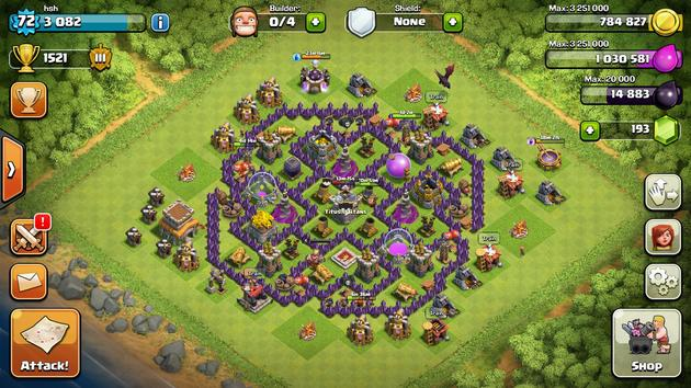 shield grabbers e troll bases