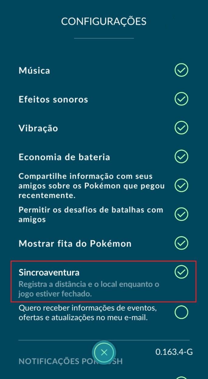 Sincroaventura - Pokémon GO