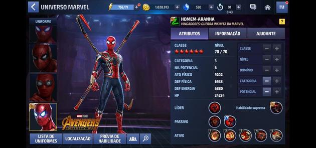 Marvel Future Fight - Homem Aranha Categoria 3