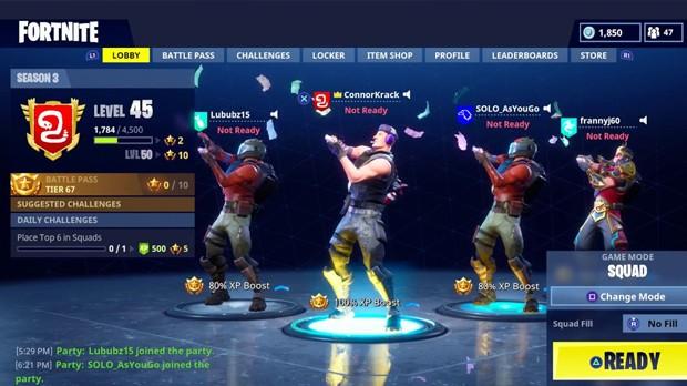 Squad Fortnite