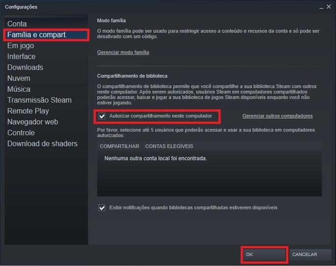 Steam Compartilhamento 2