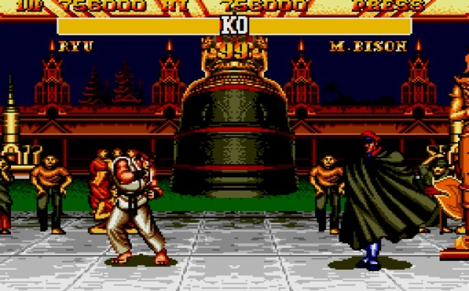 Street Fighter II mega drive