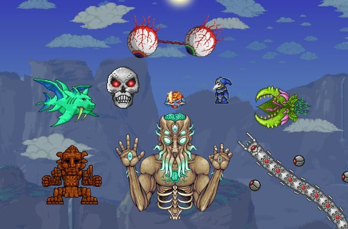 Summon de bosses terraria mod