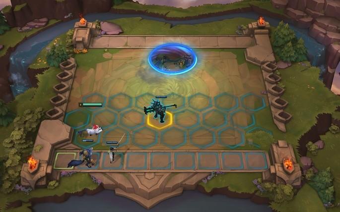 Tabuleiro em Teamfight Tactics
