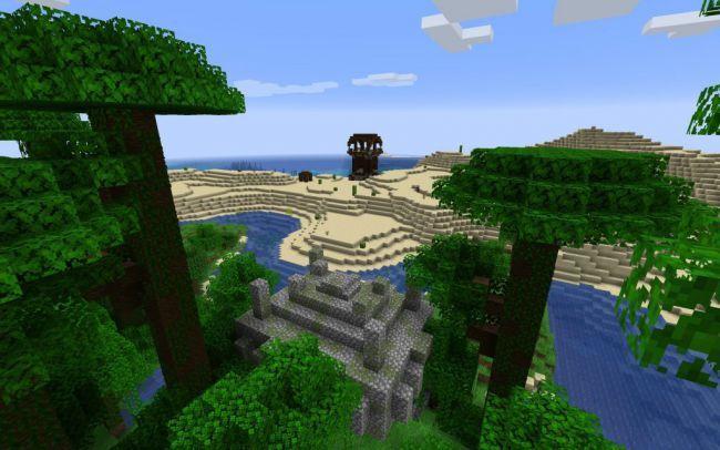 Templo en medio del bosque - Semillas minecraft